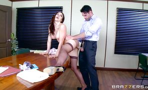 Extraordinary perfection Chanel Preston with impressive tits gives a breathtaking oral pleasure to a pussy tester
