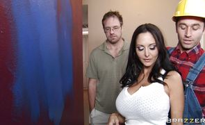 Filthy Ava Addams is having sex with lover quite often and sucking his fat penis