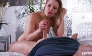 Savory playsome blonde gf Blaten Lee fucks without being exhausted
