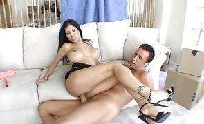 Kinky brunette Alexis Amore is just asking to be fucked by the bf