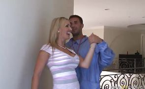 Naughty gf Tanya Tate with round tits looks even better while being drilled