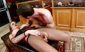 Overwhelming diva Nika Noire bends over to get her skinny pussy banged strong