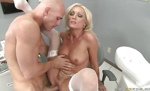 Appetizing Diana Doll with curvy natural tits got fucked in many positions until she cummed