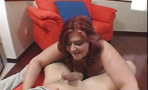 Eden with great natural tits is moody to film when sharing a big meat