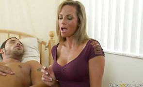 Amazing blonde Montana Skye has her perfect ass dicked with no mercy