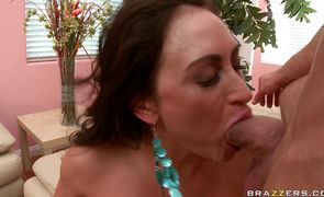 Kinky brunette Claudia Valentine fuck her lad is what love is about