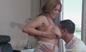 Captivating blonde beauty Kianna Dior is bouncing up and down all over fuckmate's pipe and moaning