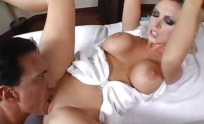 Captivating busty Nikki Benz is ready for wild dick riding