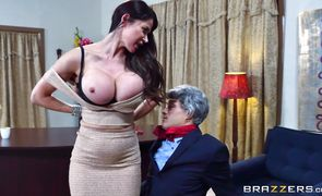 Sensational Eva Karera plays with her cunny while being roughly penetrated