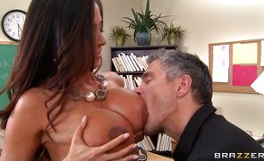 Beautiful busty girlie Ariella Ferrera got too horny to hold back so she decided to have sex with stud
