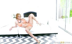 Extraordinary blonde beauty Krissy Lynn receives an intense doggy style drilling