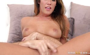 Frisky idol Eva Lovia with firm natural tits cums hard while being banged in all holes
