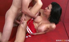 Busty Veronica Avluv with appetizing body curves fucks like a skilled courtesan