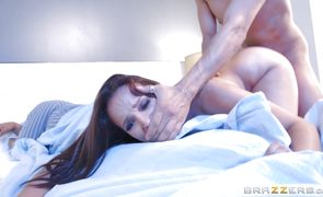 Goluptious brunette diva Lexi Luna bends over for a hard and deep outdoor fucking