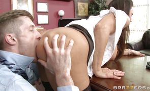 Staggering busty maid Lisa Ann is horny and ready for some ramming