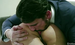 Sexual Mercedes Carrera is gently sucking guy's chopper and getting ready to get fucked good