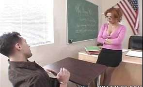Striking busty latin redhead Sienna West sucks and rides a hard prick