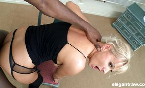 Frisky blonde sweetheart Winnie takes the mate's love stick deep in her aching vagina