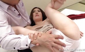 Astonishing oriental Yuuka Honjyou receives a huge cock in her tight pussy