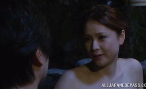 Frisky perfection Yurie Matsushima got doublefucked while her naive lover was out of town