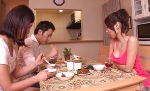 Astonishing girlfriend Ayumi Shinoda with great tits serves her purpose of pleasing beef bayonet