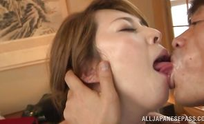 Beautiful honey Yumi Kazama is fucking male like a real slut in the middle of the day