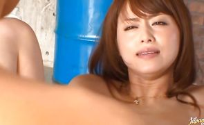 Aphrodisiac milf Akiho Yoshizawa got banged in a doggy style position and a very intense orgasm