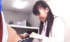 Voracious nipponese Aino Kishi shows her perky tits and sucks