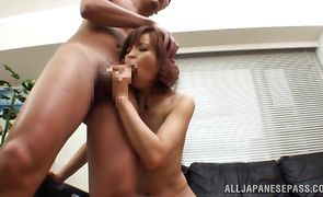 Breathtaking asian Ryouka Yuzuki receives an intense doggy style plowing