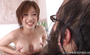Delectable japanese Saki Okuda got banged from the back until she cummed because it is her favorite position