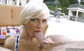 Sexy blonde Joslyn James is getting fucked and creampied properly