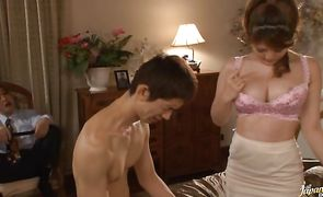 Slender chick Momoka Nishina can't get enough of this heavy duty shlong