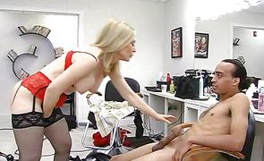 Attractive milf Nina Hartley is naked and ready to be banged with vigor