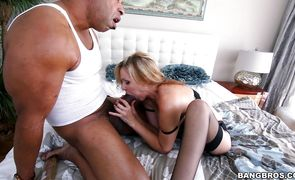 Lascivious blonde beauty Julia Ann is smoking hot who likes to have casual sex adventures