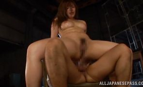 Lovely oriental floosy is fucking a stranger she likes a lot