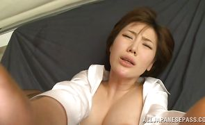 Playsome Nanako Mori got fucked and creampied the way she always wanted while she was alone