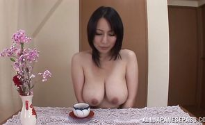 Naked gf Yuuna Hoshisaki with huge tits receives an intense doggy style plowing