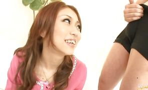Amazing nipponese hottie Saki Kozakura is being fucked in her slit by her fellow