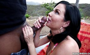 Spicy brunette darling Veronica Avluv with impressive tits got fucked hard and enjoyed every second of it