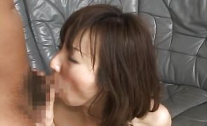 Appealing nipponese chick Honami Takasaka bombshell gives her cuch for shitless fuck