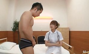 Awesome Akiho Yoshizawa gives her fucker a hot blowjob