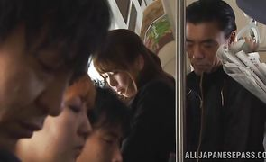 Attractive eastern Yuki Kami gives her guy an intense blowjob