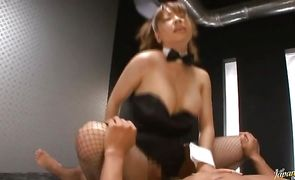 Astounding asian Buruma Aoi with big tits is a pro when she starts sucking