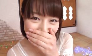 Classy Mau Morikawa got completely naked because she was about to make her first porn scene