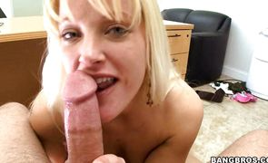 Prurient blonde Carolina Belle is getting fucked from the back and moaning from pleasure