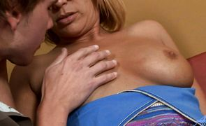 Striking mature Mellanie Monroe makes the hard meat rocket wet and ready for fucking