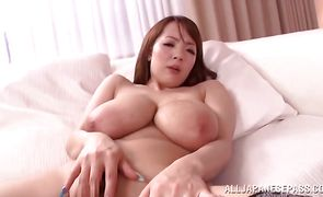 Astounding nipponese Hitomi lets pussy tester fuck her brains out in the middle of the day