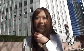 Voracious asian Sae Aihara likes to suck dude's schlong