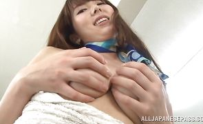 Cute maiden Yui Hatano wants buddy to smashed her super hard