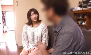 Nasty busty idol loves getting handled by a real stranger